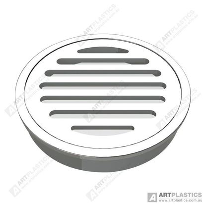 Picture of GRATE ROUND STAINLESS STEEL (SLOTTED 80MM)