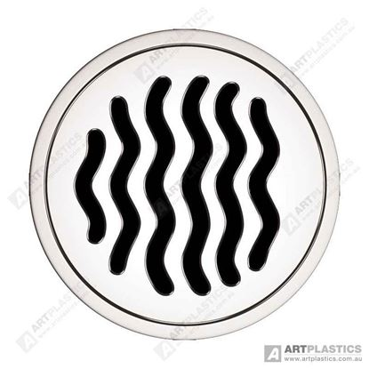 Picture of GRATE ROUND RIPPLE CHROME (80MM)