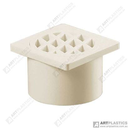 Picture of GRATE SQUARE PVC (80MM WHITE)
