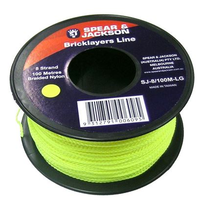 Picture of STRING LINE (8 STRAND FLURO GREEN)